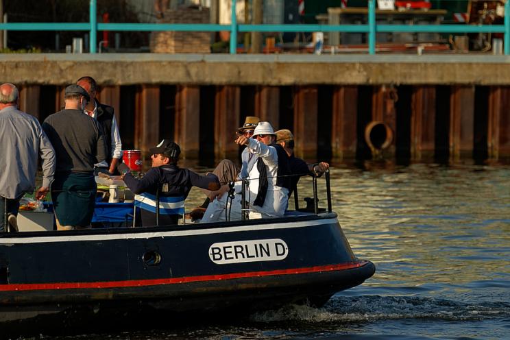 Bootstour auf der Spree, Oberschöneweide 2015
