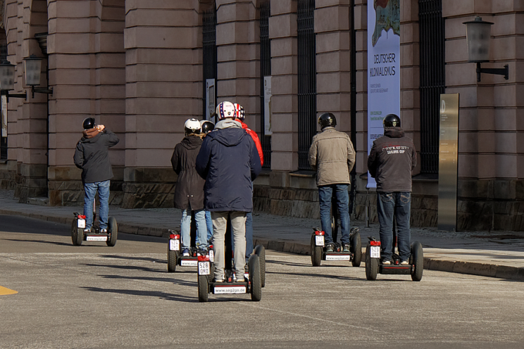 Segway in Mitte, 2017